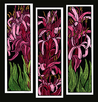 Gymea Lillies Linoprint