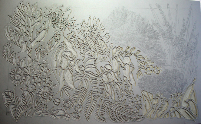 NZ Wildflowers Linoblock 2
