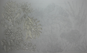 New Zealand Wildflowers Linocut Block - Part 1