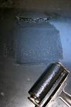 Lino printing - inking block