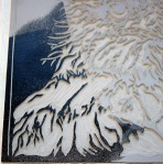 Lino printing - ink transfer