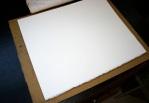 Lino printing block - add paper