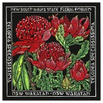 1. NSW State Floral Emblem - Linocut