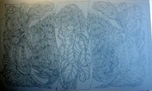 Waratahs linoleum block carving 1