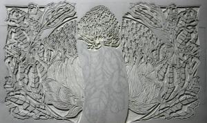 Waratahs Linocut - Linoblock Carving 3