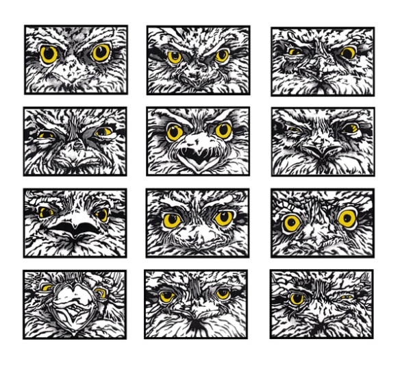 Tawny Expressions Linocut Templates