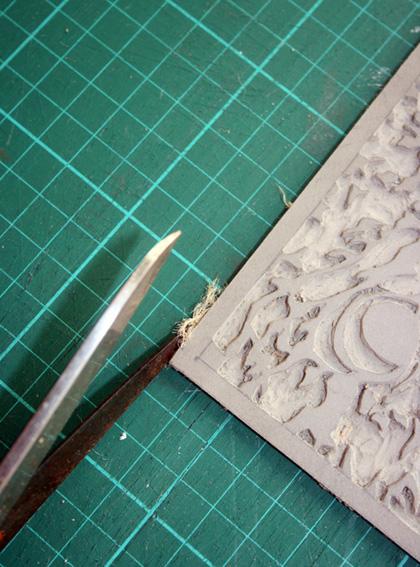 Preparing Linocut Blocks for Printing 3
