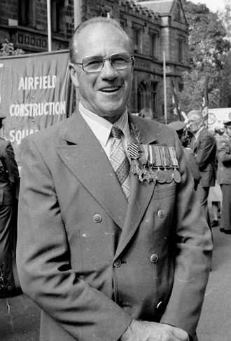 Don Vidler - ANZAC Day 1981 -received the Distinguished Flying Cross medal - WWII Europe RAAF