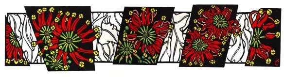 Australian Wildflower Panels Firewheels
