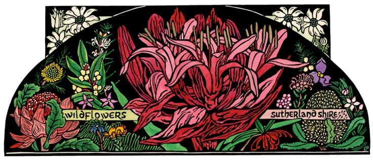 Australian Wildflower Linocut - Wildflowers Sutherland