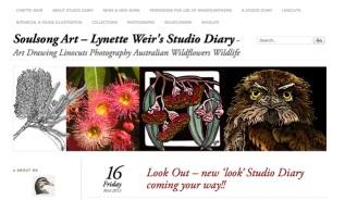 Soulsongart Australian Linocut Artist Studio Diary Website
