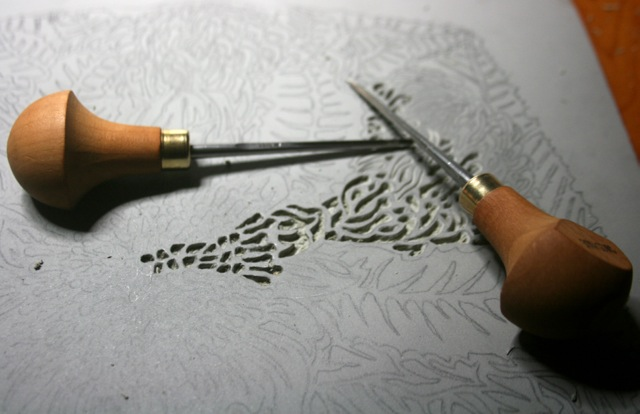 I m officially in love … with my new linocutting tools