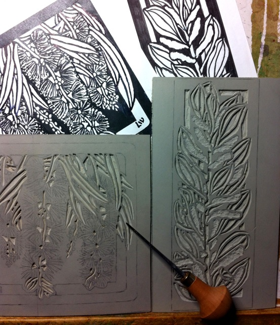 Carving linoblock march web