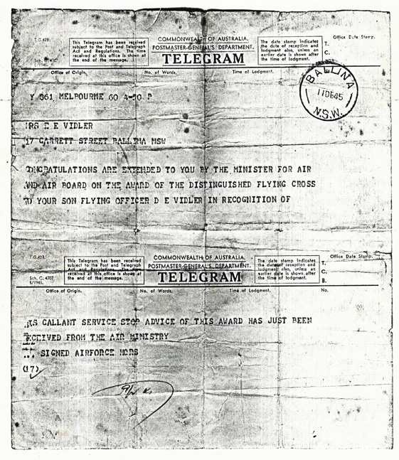 Don Vidler - DFC - RAAF WW2