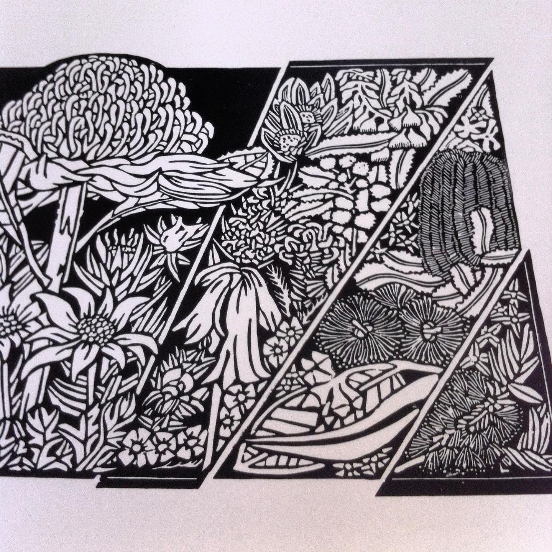 Linoleum Print Designs Simple Linoleum Print ...