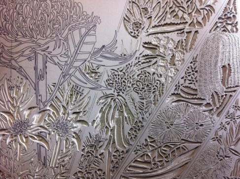 Lino carving progressions