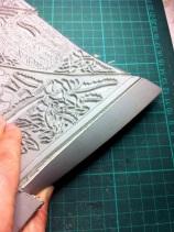 Cutting back edges of linoblock 2