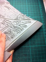 Cutting back edges of linoblock 2