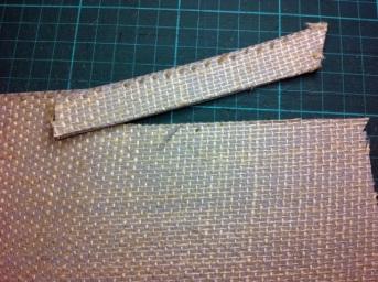 Cutting back edges of linoblock 6