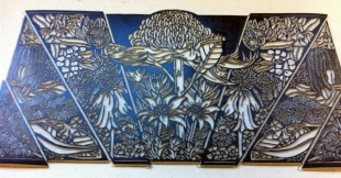 The inked linoblock