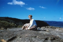 Mum on a holiday in the Blue Mountains c1960