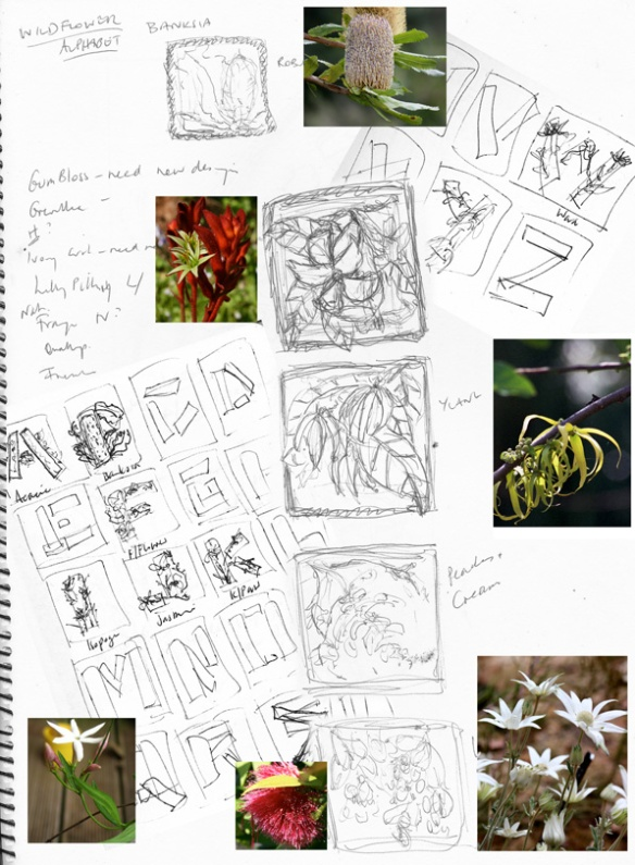 DESIGN CONCEPTS DRAWINGS PHOTOS WILDFLOWERS ALPHABETS 3 WEB