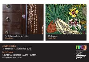 'Wildflowers' Exhibition at the Northern Rivers community Gallery, Ballina - 27th Nov-22nd Dec 2013
