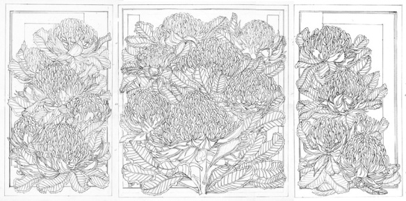 SKETCHBOOK & DRAWINGS - Waratah Trytich WEB