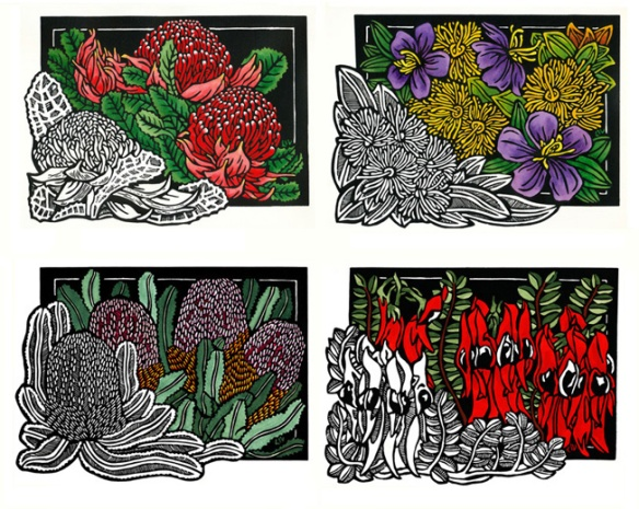 Classic Wildflowers Set of 4 WEB