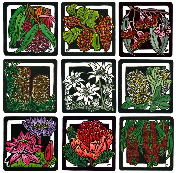Wildflower Squares Set LArger file