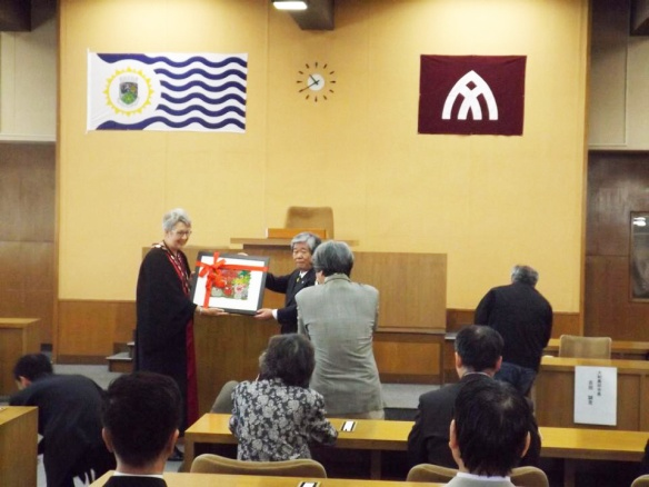 Sister City Gift - Lismore City & Yamato Takada Councils April 2014