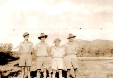 Arthur Gray (on left) - New Guinea