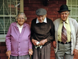 Aunty Biddo, Uncle Fred & George Perkins (my Grandfather)